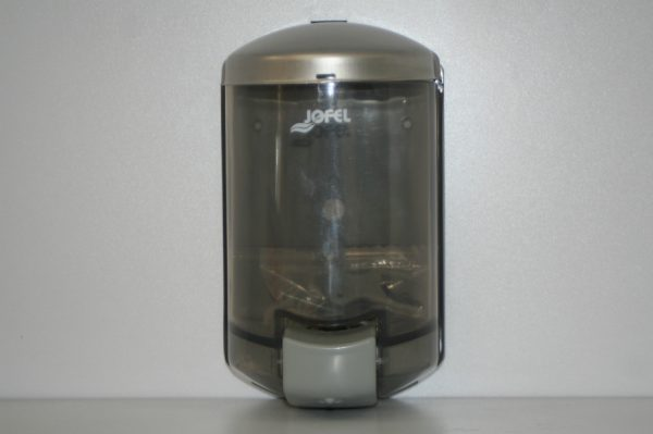 Dispensador despachador de uso rudo marca Jofel para Jabon liquido.
