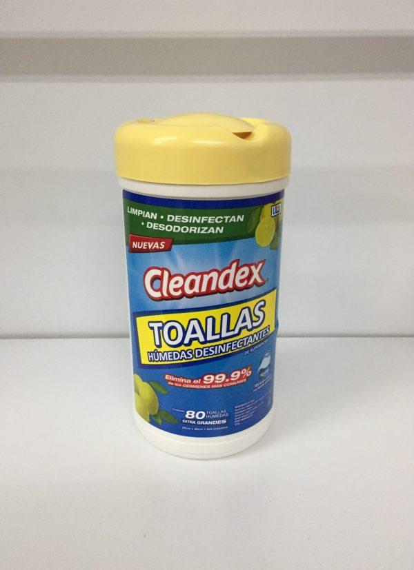 Toallas desinfectantes Cleandex bote con 80 toallas