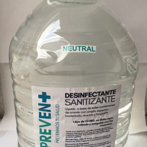 Desinfectante Concentrado marca Prevent para superficies y tapete sanitizante.