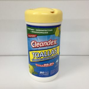 Toallas desinfectantes Cleandex bote con 80 toallas