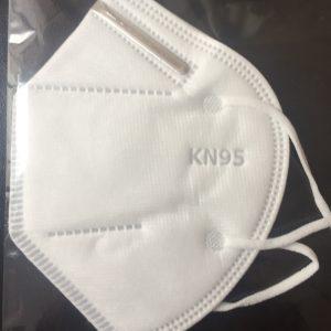 Cubrebocas blanco modelo KN95