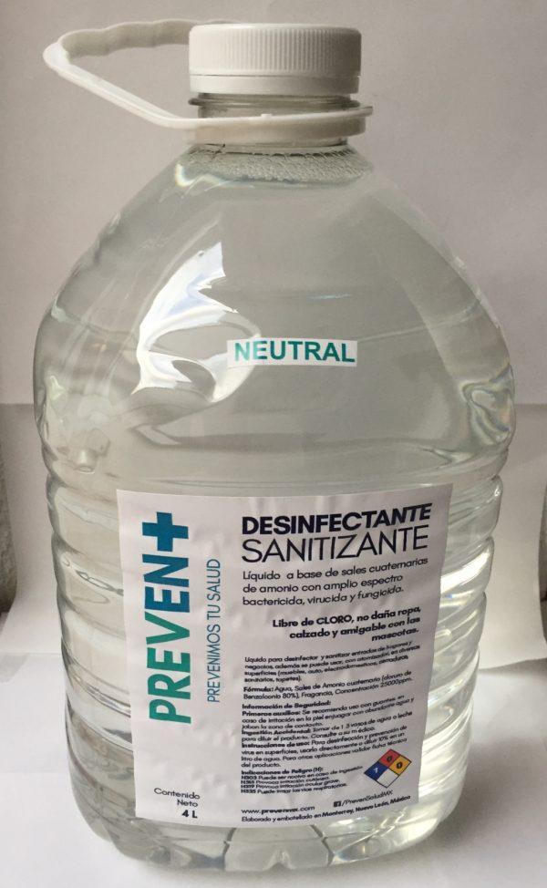 Desinfectante Concentrado marca Prevent para superficies y tapete sanitizante.