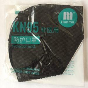 Cubrebocas KN95 color negro empaque individual